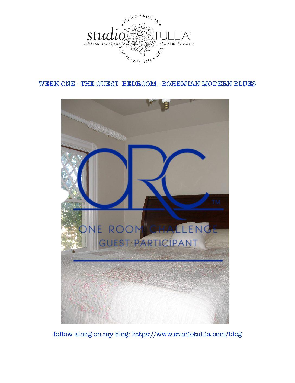 ORC 2017 – GUEST BEDROOM – BOHEMIAN MODERN BLUES